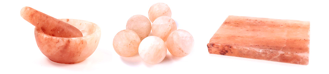 Salt Blocks, Salt Balls and Morter & Pestle